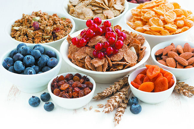 Use foods high in fiber