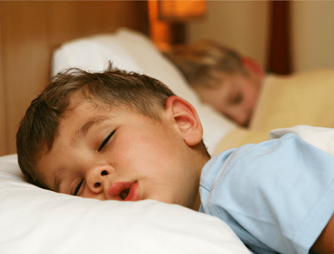 Don't pressure your child and help them sleep