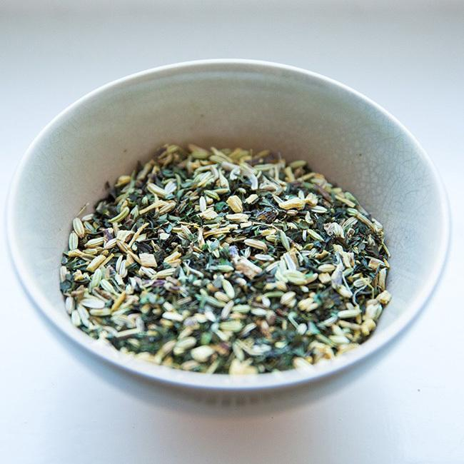 Fennel, peppermint, and ginger