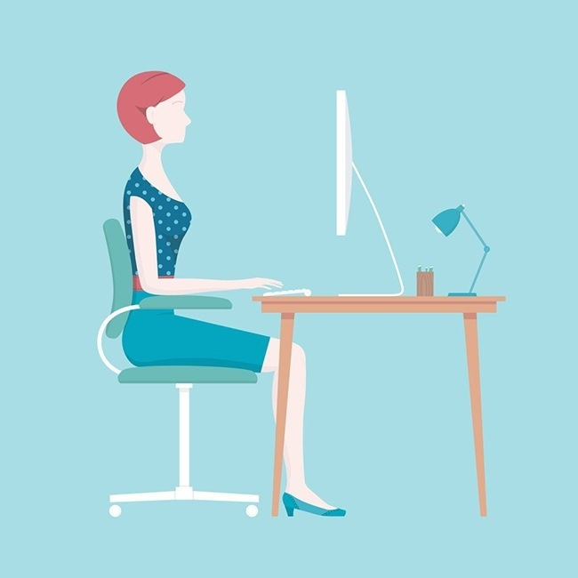 The sitting posture, lying or standing is important