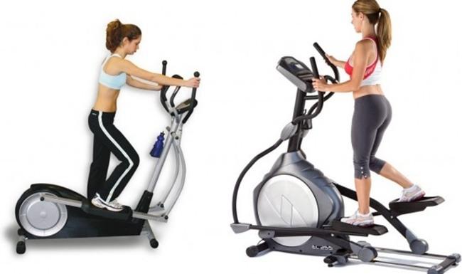 Running exercise on hand-held machines