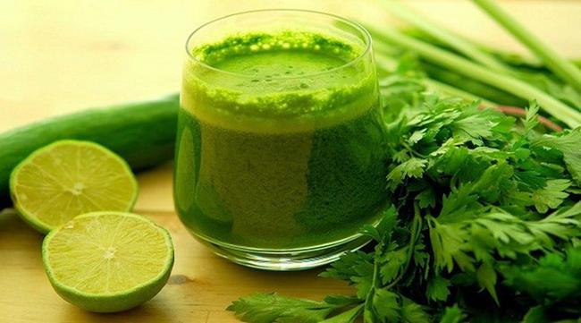 Lemon, parsley, and spinach