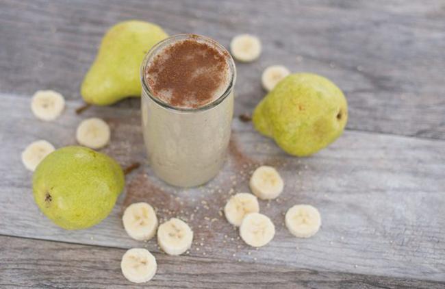 Bananas, pears, cinnamon, and coriander