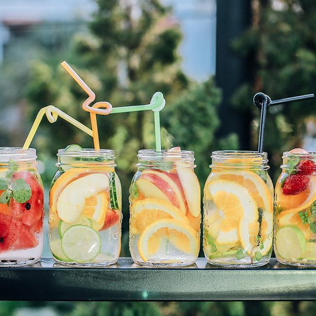 Make water detox to soak fruits before losing sleep