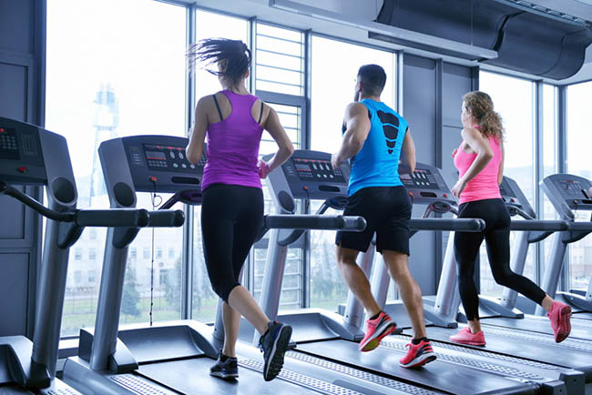 Spend 30 minutes on the treadmill