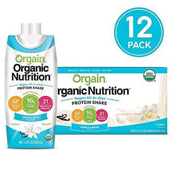 Orgain Plant Based Organic Vegan Nutrition Shake