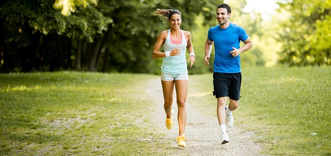 Running for 30 minutes reduces how many calories?