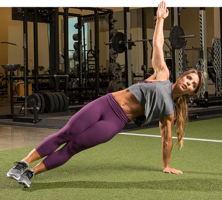 Push-Up With Side-Plank Rotation