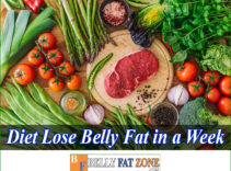 A Diet to Lose Belly Fat in a Week Gives You More than Expected Results