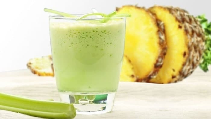 Celery juice slimming face