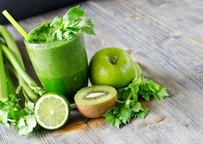 Effectively reduce fat with celery by drinking sharp