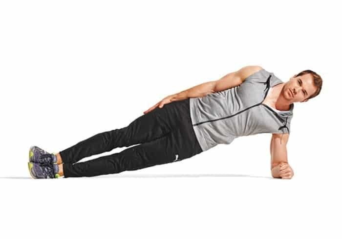 How to reduce belly fat for men with Side Plank exercise