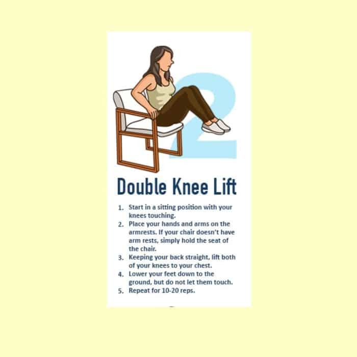 Double Knee Lift hip fat reduction exercises
