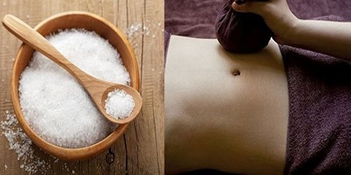 How to reduce upper belly fat with roasted salt