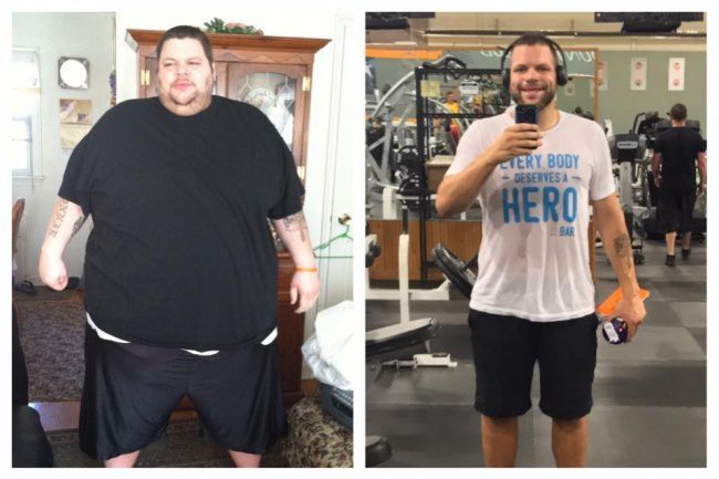 This man once weighed up to 192kg, after trying to lose weight