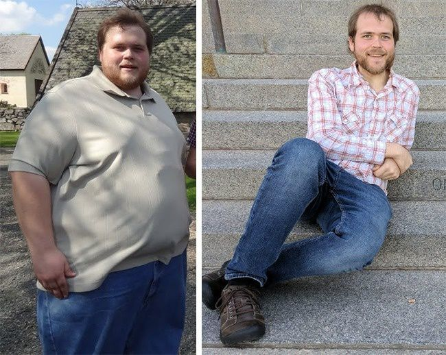 Within a year, this guy changed dramatically and lost 113kg