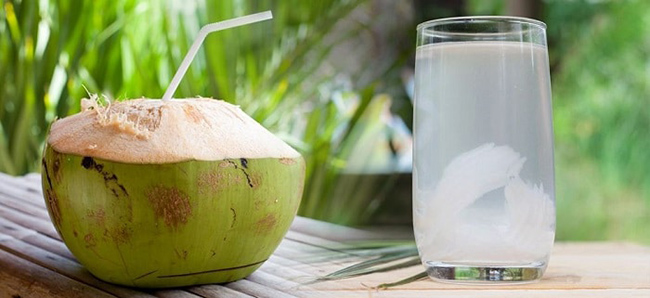 The note if you want to drink coconut water to lose weight