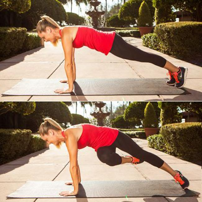 Exercise to reduce hip and lower belly fat with the twist of the floor