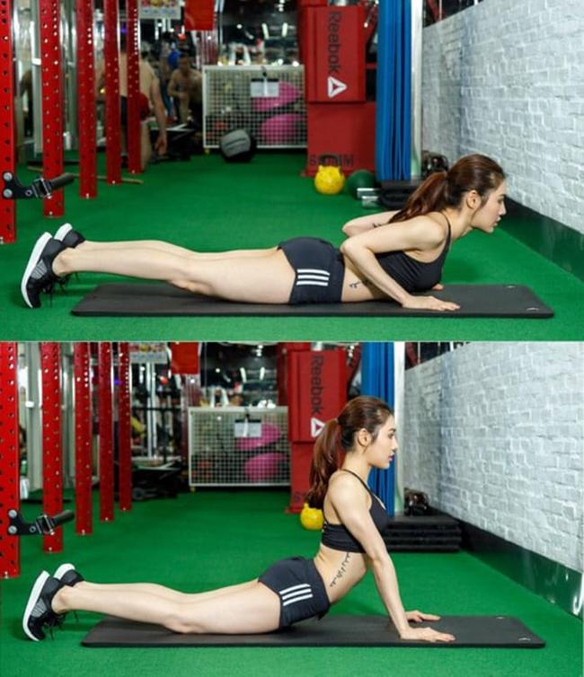 Exercises for reducing back fat include 3 consecutive movements