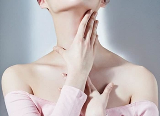Perform neck massage movements and collarbone regularly so evident.