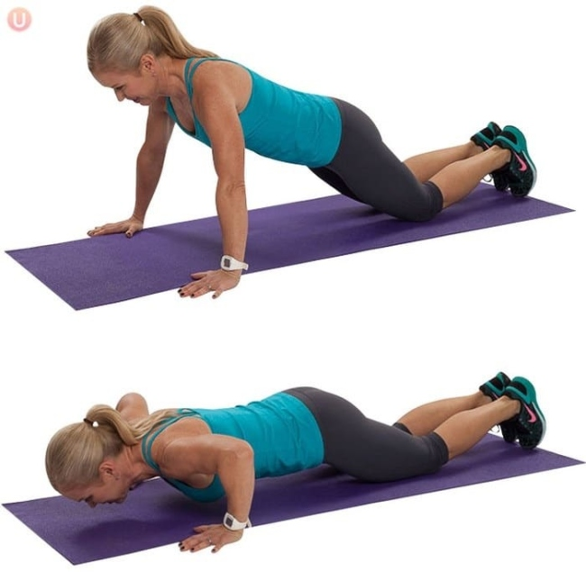 Push upper body movement to increase breast size