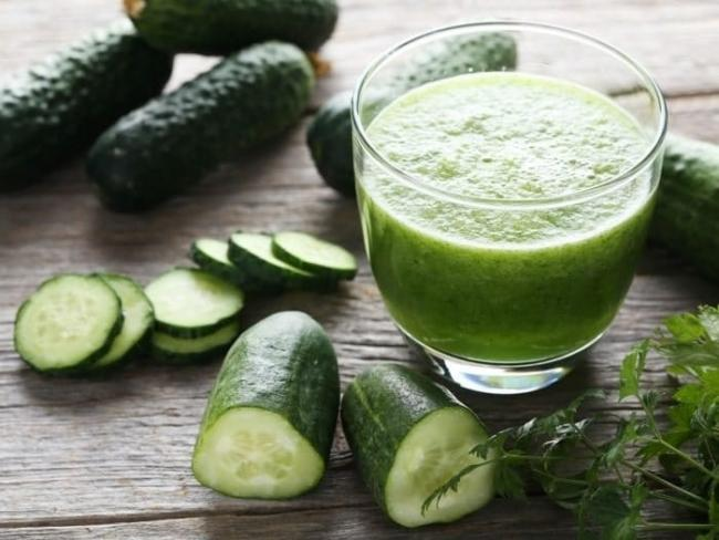 Cucumber juice.