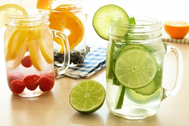 The amount of water in the fruit that takes the minerals and carries toxins out of the body but does not reduce blood sugar levels at least
