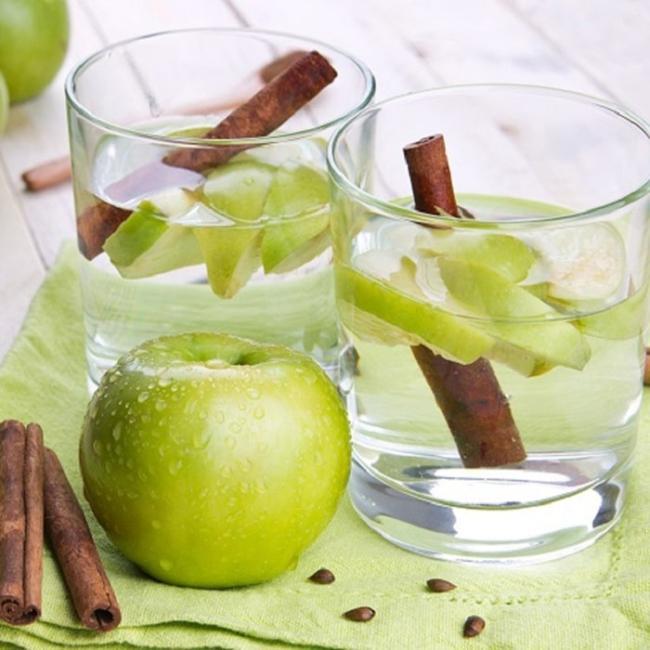 Water, green apple detox weight loss