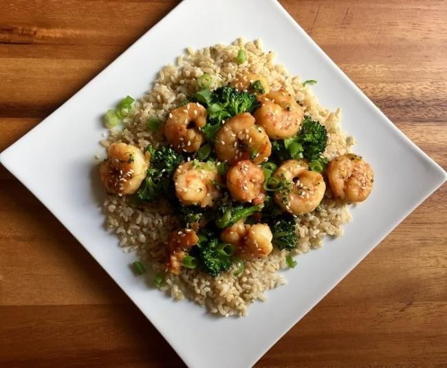 Changing weight loss menu for more delicious with boiled shrimp.