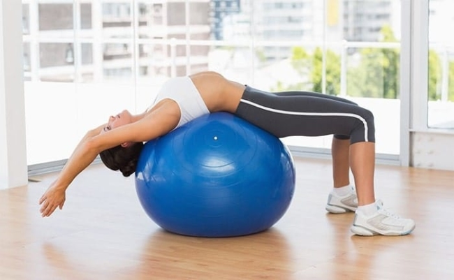 Pilates exercises increase height with the ball.