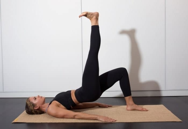 Pilates exercises for legs and good for the back.