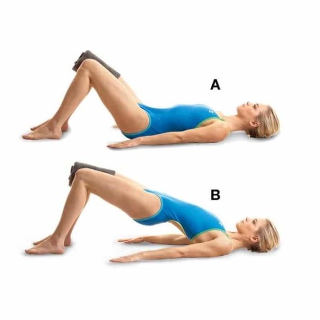 Pilates exercises for the abdomen.