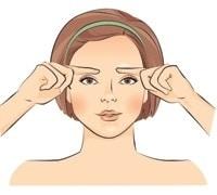 Massage the forehead area.