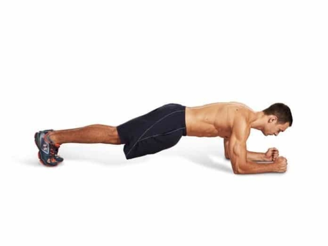 Exercises to lose fat on both sides of the hip by Plank
