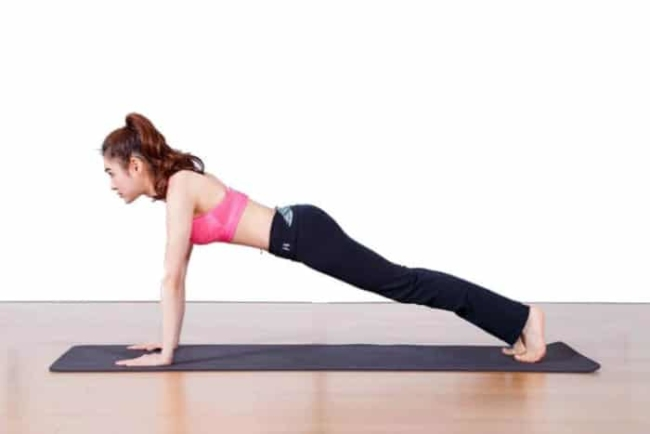 Plank posture back pain effectively
