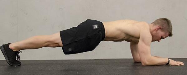 Plank posture properly.