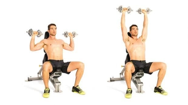 This gym exercise for shoulder muscles.