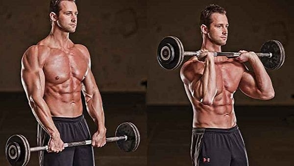 Roll weights backward.