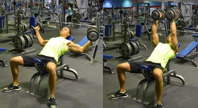 Do chest exercises with dumbbells.