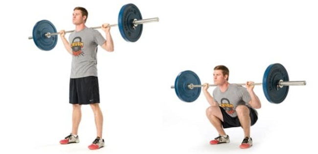 Dumbbell movements - Gym exercises for the legs.