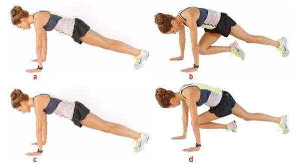 Cross-leg rock climbing exercises