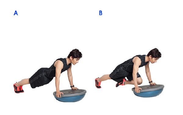 Exercise to push and pull knees.