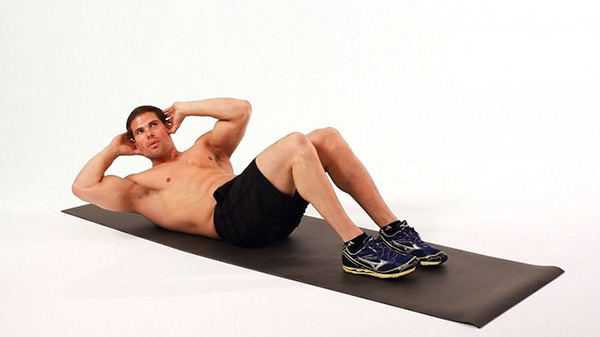 This is a move to help train the upper abdomen, to help increase muscle.