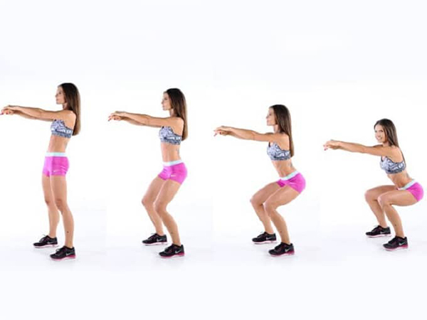 Squatting exercises to lose weight.