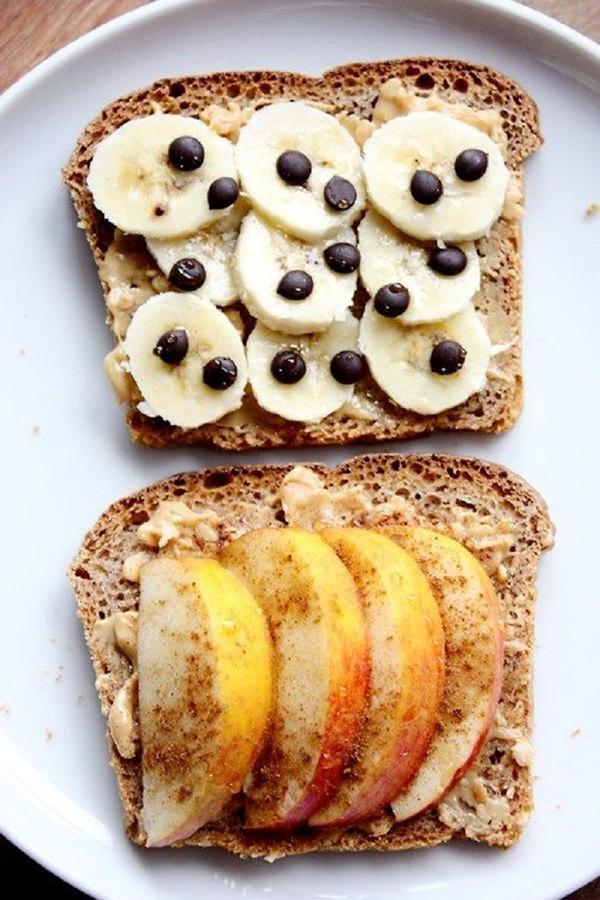 1 slice of bread and 1 apple for breakfast reduce belly fat, weight loss.