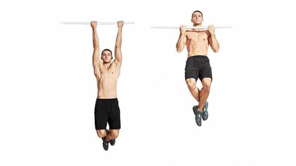 Street Workout exercises sniffing single bars.