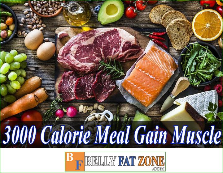 3000 calorie meal plan to gain muscle
