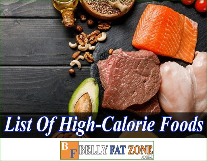 list of high-calorie foods to gain weight