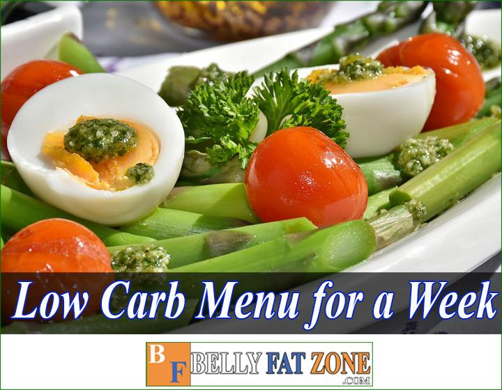 Low Carb Menu for a Week - Save you time thinking