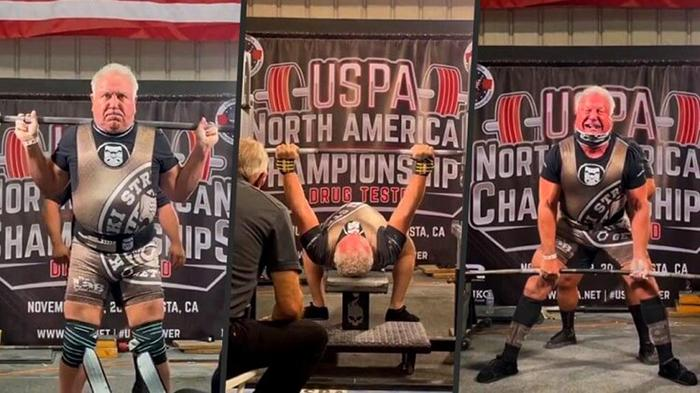 The 71-year-old man set a world record for lifting weights